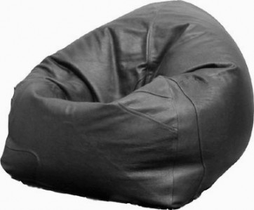 Black Leather Beanbag Chair