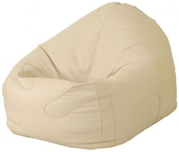 Leather Beanbag Chair - Cream/Ivory