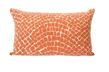 Orange Cobblestone Cushion by Raine and Humble
