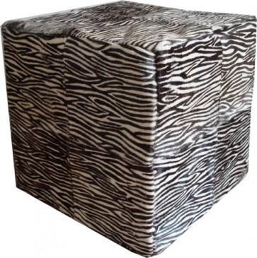 Zebra Pattern Cowhide Cube