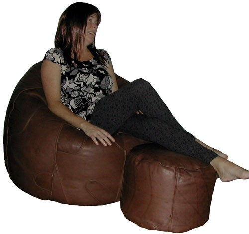 Fit brown adult size bean bag this