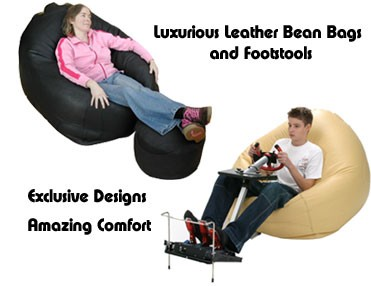 Black Leather Beanbag Chair A Luxury For One Or
