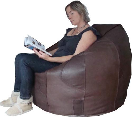 Luxury XXL Giant Leather Beanbag
