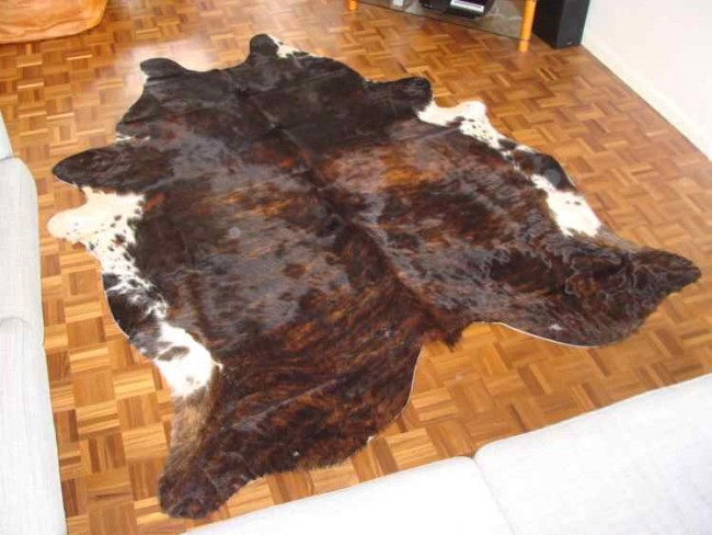 Large Brown Brindle Cowhide Rug