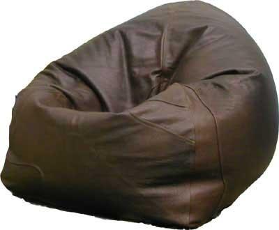 Luxurious Brown Buffalo Leather Chair Beanbag The Lounge