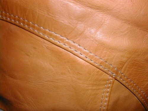 Leather Beanbag Chairs Tan Sample