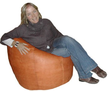 Luxury Leather Beanbag Pod