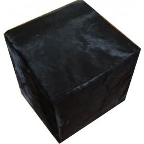 Black Cowhide Cube