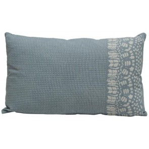 Sky Blue Country Lace Rectangle Cushion