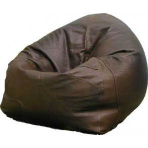 Handcrafted Brown Buffalo Leather Beanbag Chair