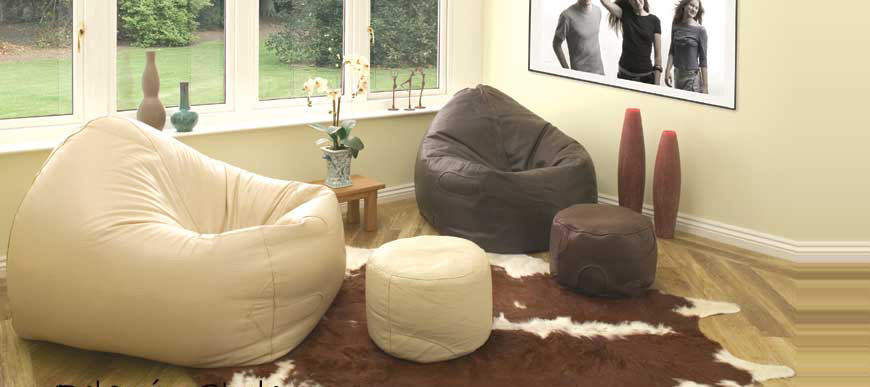 Luxury Leather Bean Bags